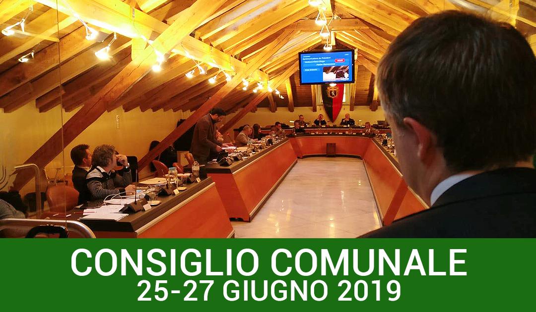 Consiglio comunale 25-27 giugno 2019